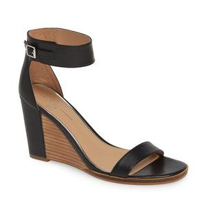Linea Paolo Elodie Wedge Sandal in black size 9.5